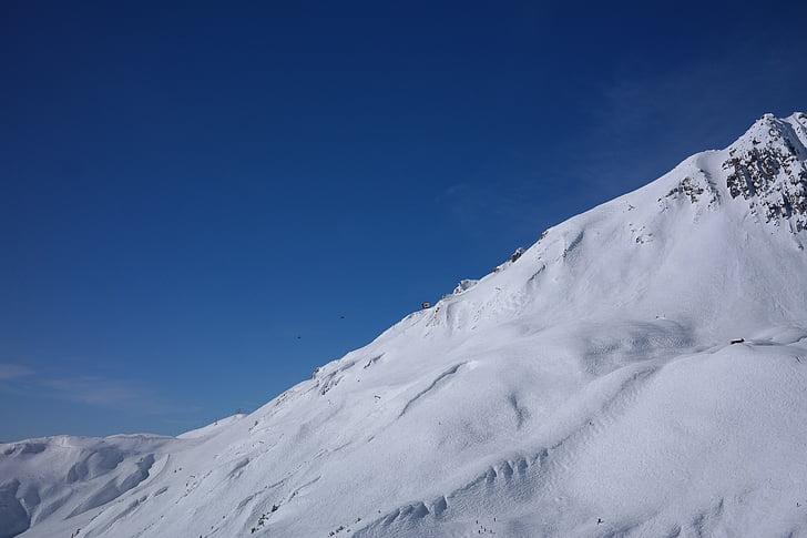 khu trượt tuyết, Arlberg, mùa đông, dãy núi, đỉnh núi, wintry, Trượt tuyết