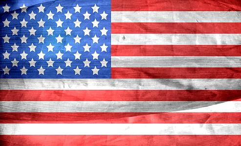 người Mỹ, lá cờ, Hoa Kỳ, Dom, dân chủ, sao, sọc