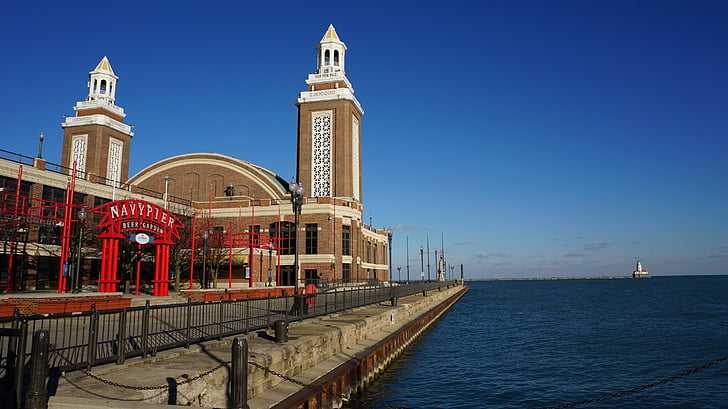 Chicago, havet, turism, tur, Seaside, arkitektur, USA