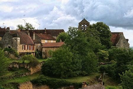 França, Perigord, Dordonya, poble, arquitectura, vell, història