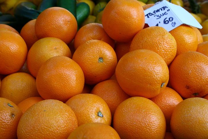 oranges, farmers market, fruits, local, colorful, spain