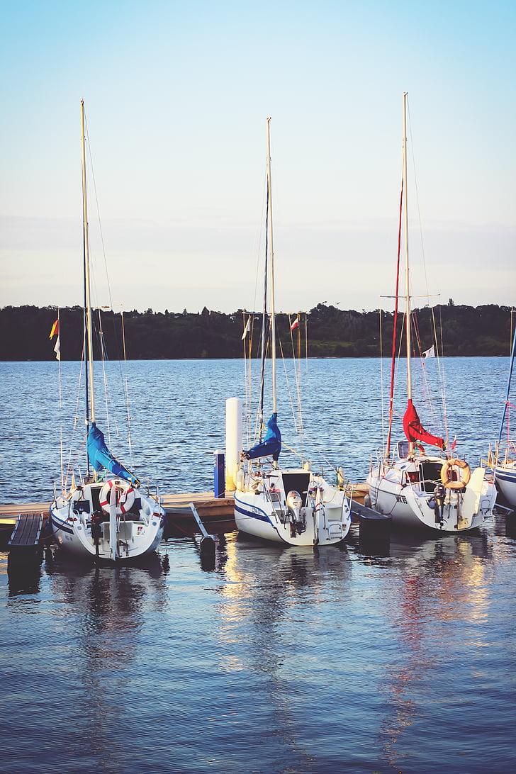 båtar, sjön, hamn, floden, segelbåtar, havet, nautiska fartyg
