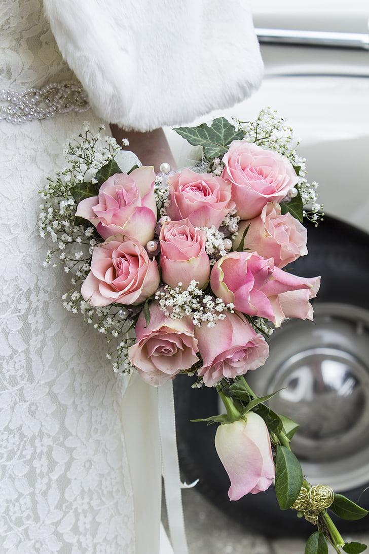 morsiuskimppu, kimppu, kukat, häät, Rosa, ruusut, rikkominen
