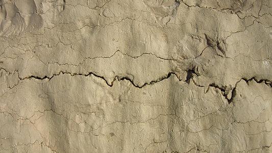 bretxa, cruixit, calç, l'erosió, pedra calcària, irregulars, meteorització