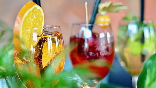 alkohoolsed, jook, blur, pidu, Citrus, Suurendus:, kokteil