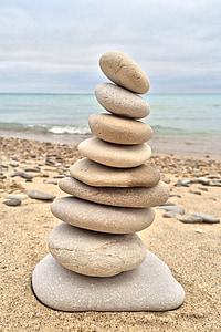 apilament, pedres, Roca, equilibri, relaxació, harmonia, relaxar-se