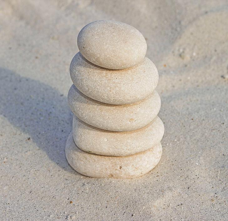 roques, pedres zen, pedres de sorra, Zen, equilibri, platja, còdols