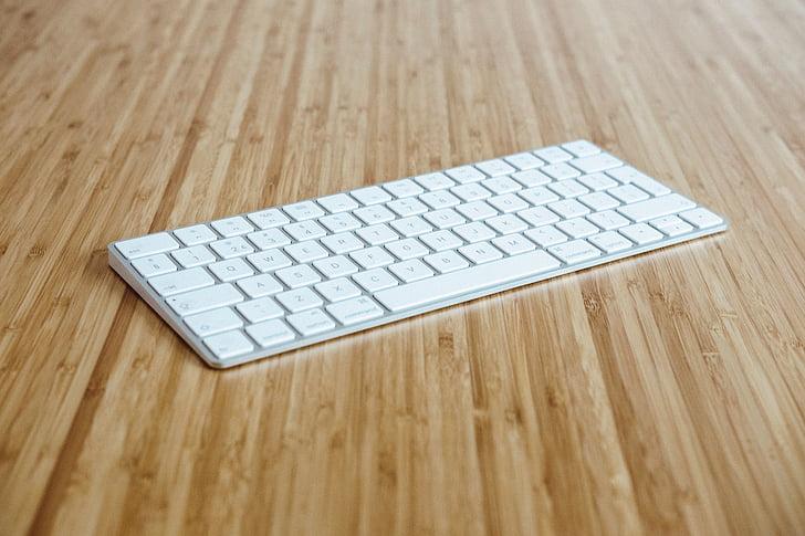 klávesnica, podnikanie, Office, Práca, kancelária, drevené, Tabuľka