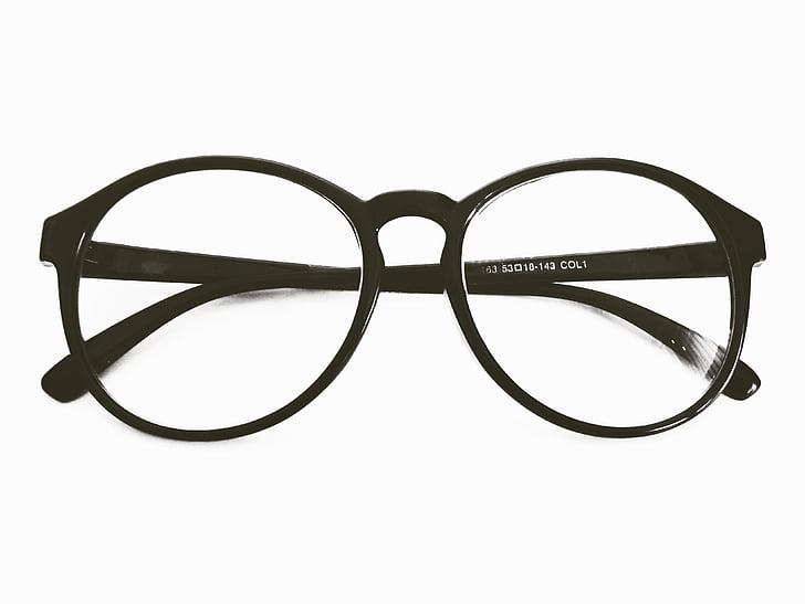 ulleres, gots de vidre, ulleres rodones, b w, blanc i negre, espectacles, spects