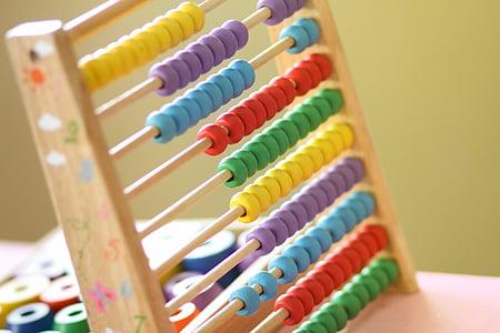 Abacus, tandsten, klassrum, Greve, räknaren, barn, matematik