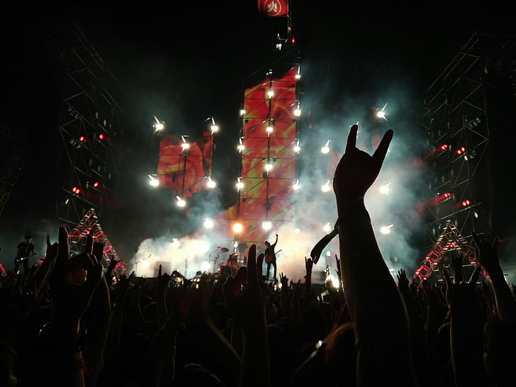 band, rock band, music, concert, live, audience, fans