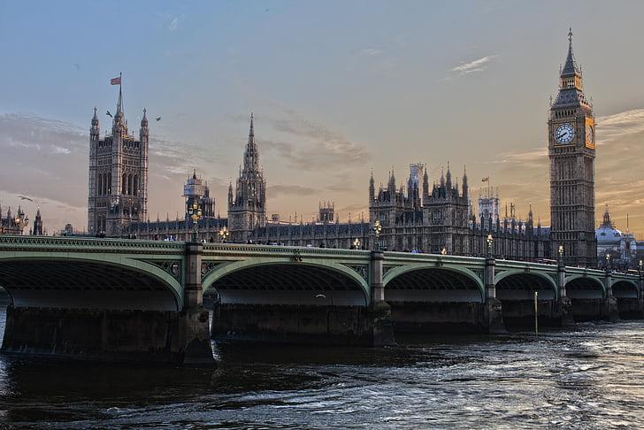London, Parlamendi, Inglismaa, Ben ben, Westminster, Tower, City