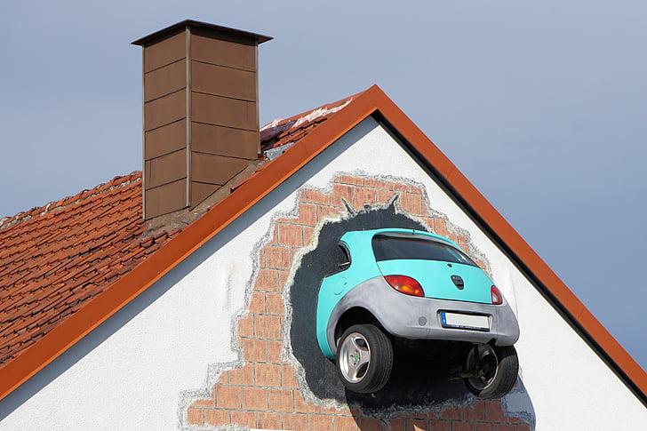 Auto, sienos, Proveržis, Menas, nelaimingo atsitikimo, Avarija, kaulų lūžių