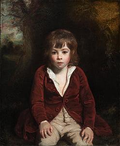 โจชัวเรย์โนลด์ส, เด็กชาย, เด็ก, ศิลปะ, ภาพวาด, สีน้ำมันบนผ้าใบ, ศิลปะ