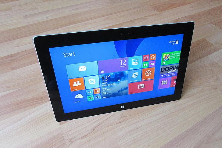 tablični računalnik, tableta, Microsoft, površino, mobilne, računalnik, mediji