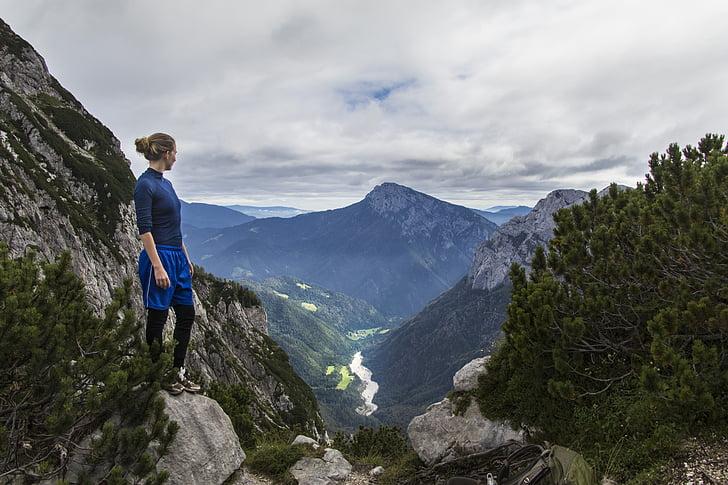 trekking, hiking, slovenia, valley, adventure, nature, travel