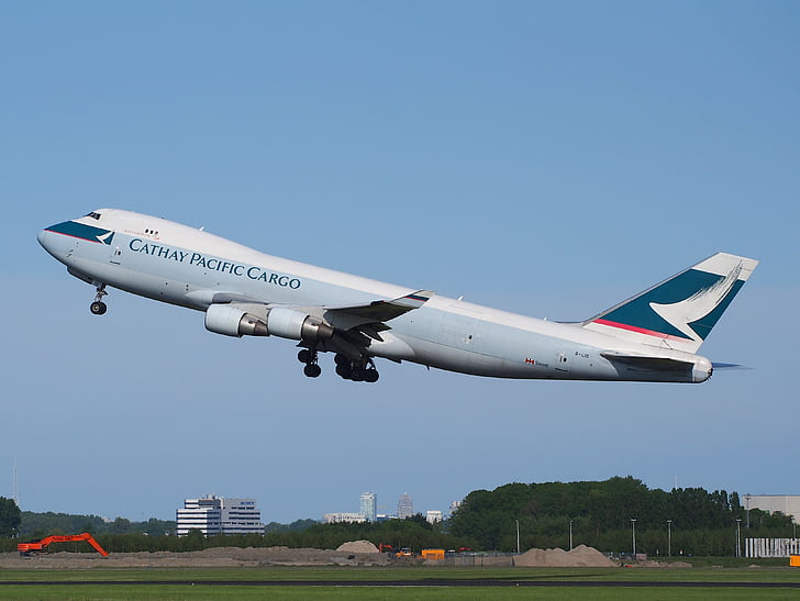 Boeing 747, Cathay pacific, jumbo jet, avion, décoller, avion, aéroport le plus pratique