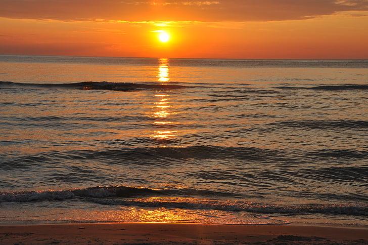 posta de sol, Mar, la Costa, Mar Bàltic