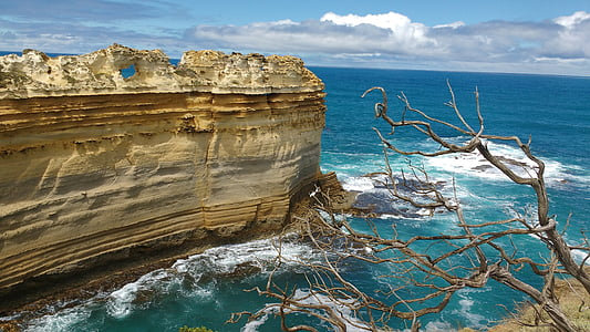 grande, océan, route Australie, Australie, Victoria, paysage, Côte