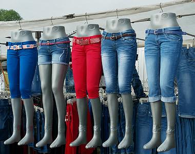市场, 牛仔裤, 服装