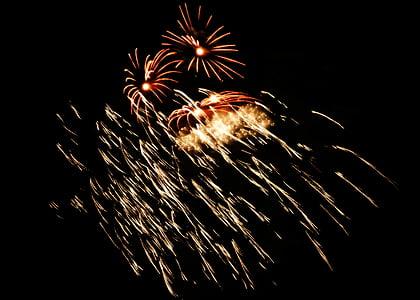 tűzijáték, új év, robbanás, fél, ünnepelni, durrogtatás, ünnepe