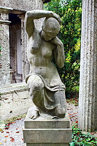 statue, Stone skulptur, kirkegård, grav, grav, Memorial, gravsten