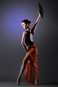 woman, dance, spanish, red skirt, ballet dancer, beauty, fashion