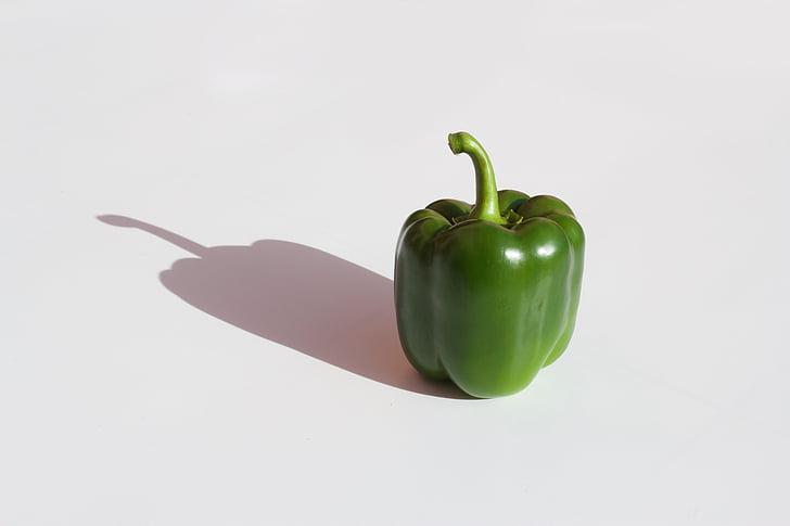 veselīgi, zaļa, Bell pepper, paprika, dārzenis, pipari, closeup