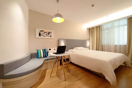 hotel, guest room, new, domestic Room, indoors, apartment, modern