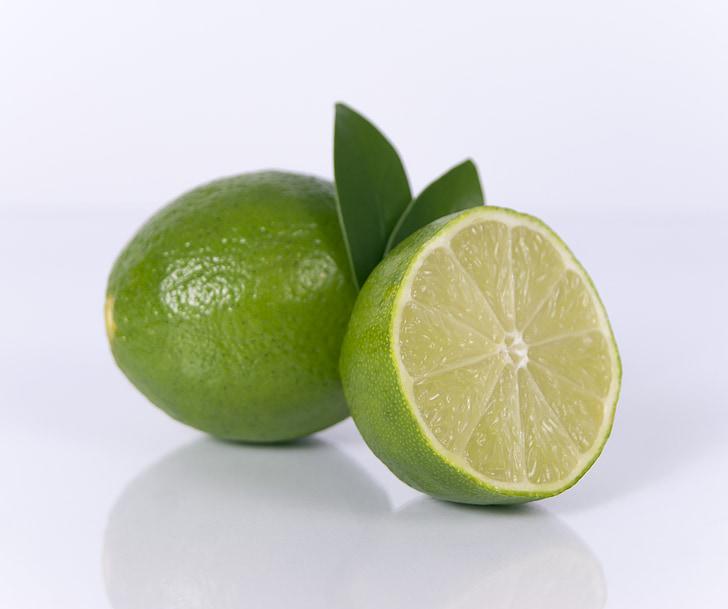 Calce affettate, frutta, calce, fetta, agrumi, cibo, fresco
