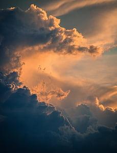 natura, nuvole, cielo, aerea, tramonto, Cloudscape, nube - cielo