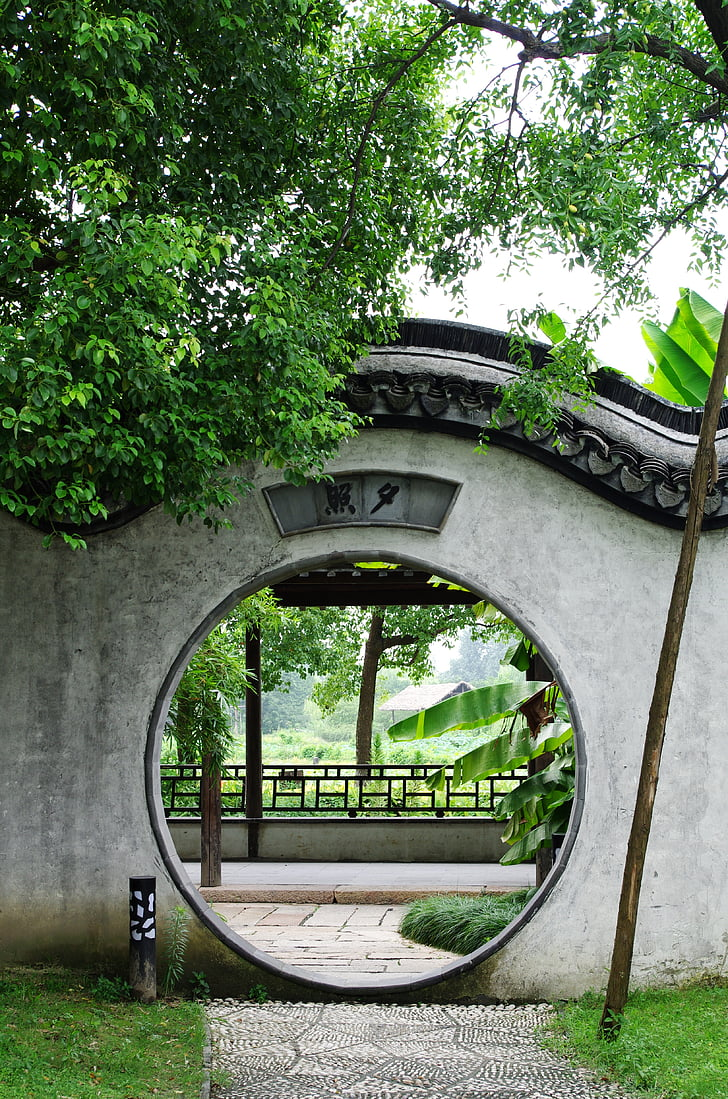Cina del vento, Wuzhen, giardino, Jiangnan, paesaggio