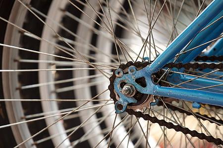 bicikala, bicikl, Krupni plan, žbice, kolo, sportski, govorio je