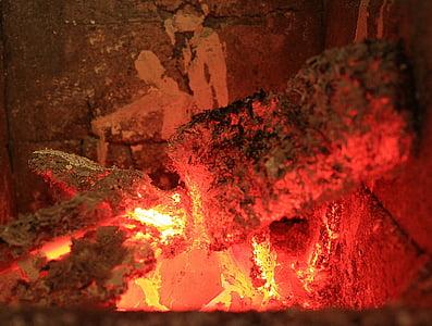 brases, foc, calor, cremar, marca, fusta, flama