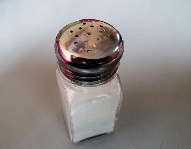 sal, coctelera, saltshaker, espècies, cuina, ingredient, sabor