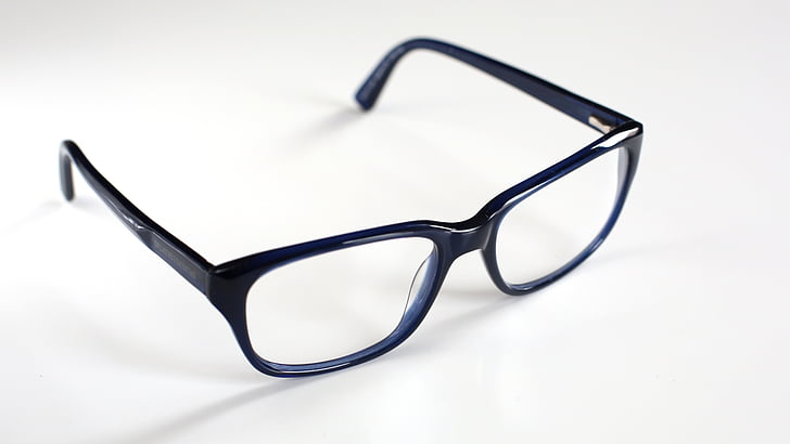 glasses, reading glasses, blue