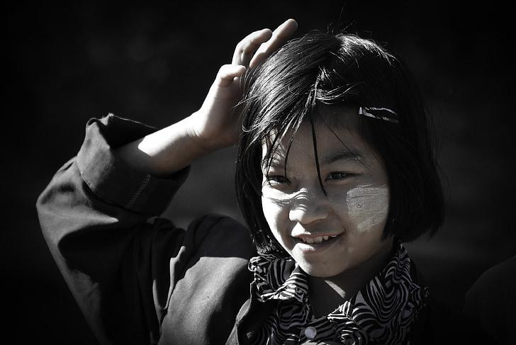 деца, Портрет, Камбоджа, пътуване