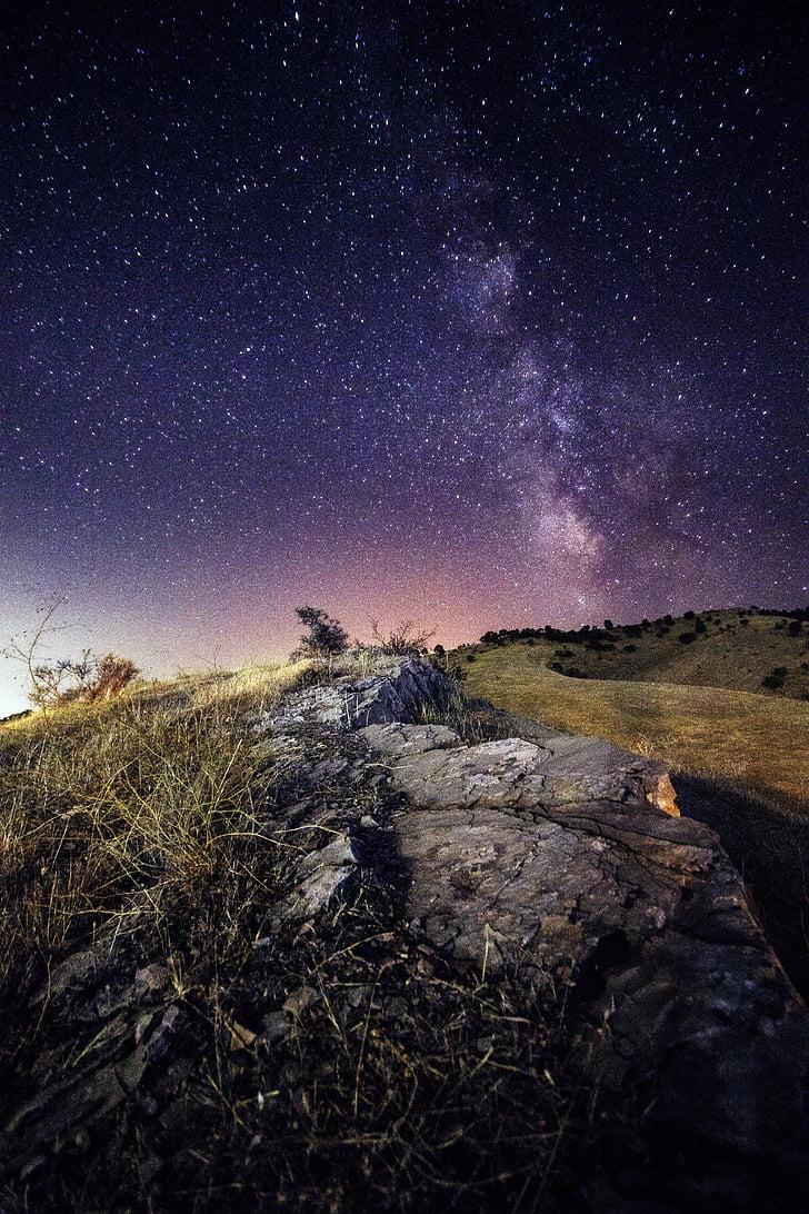 Milkyway, estrella, cielo, espacio, universo, Galaxia, noche