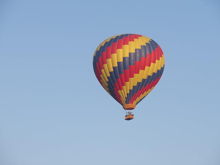 globus, cel, globus aerostàtic, volar, vol en globus, unitat, cel blau