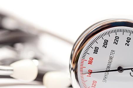 bloeddruk, manometer, medische, de test, meten, apparatuur, medisch hulpmiddel