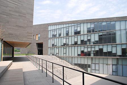 hoone, redel, Square, digitaalne mõis, arhitektuur, kaasaegne, hoone välisilme