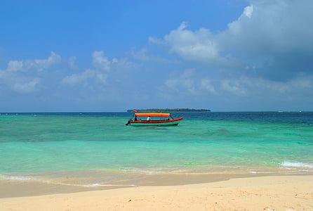 platja, Mar, paisatge, sorra de la platja, sorra, Panamà, l'aigua