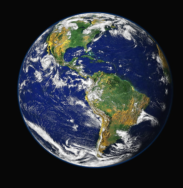 Terre, illustration, sombre, arrière-plan, Sky, monde, planète terre