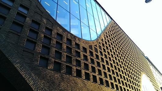 arhitektuur, hoone, klaas, perspektiivi, Windows, pilvelõhkuja, büroohoone