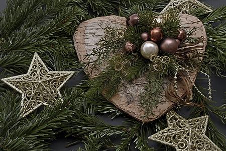 christmas heart, christmas, decoration, christmas decoration, advent, star, christmas flower arrangement