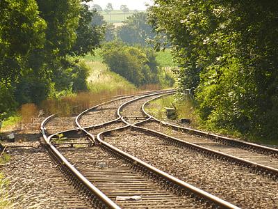 järnvägen fodrar, Rails, tåg, transport, spår, tågspåren, spår