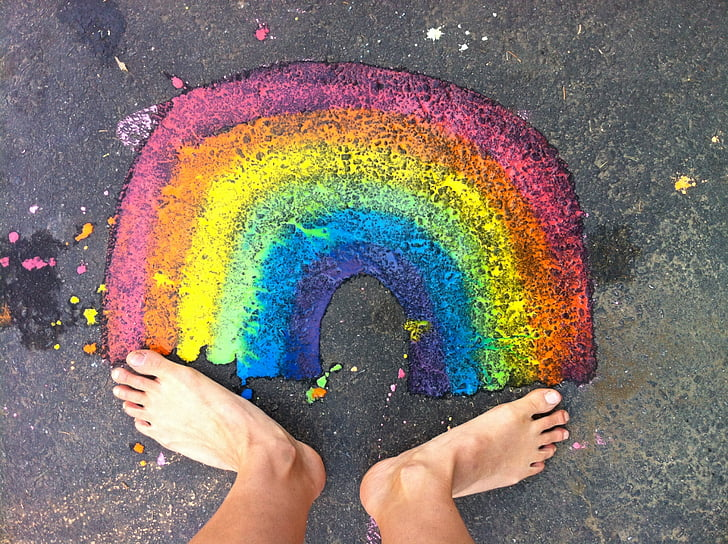 rainbow, feet, happy, happiness, foot, colorful, bright