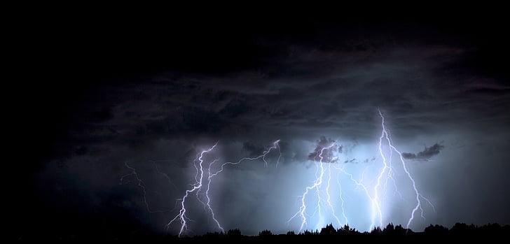 llamp, tempesta, Arizona, monsó, tempesta elèctrica, electricitat, temps