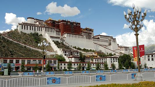 Tibet, Lhasa, Monestir, Palau Potala, arquitectura, renom, cultures