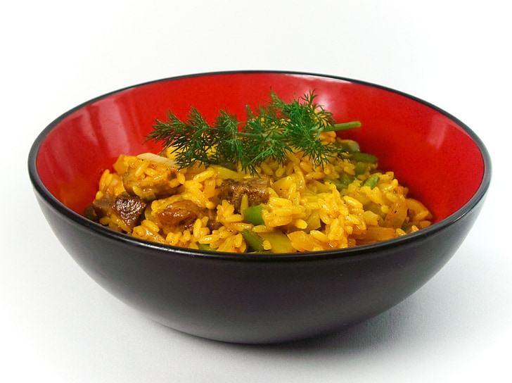rice dish, rice bowl, rice plate, rice ladle, rice, asia, eat